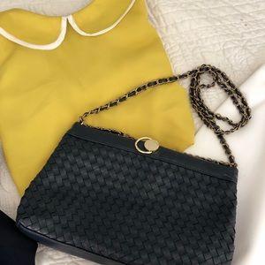Blue chain bag
